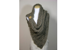 Top 47 Images Crochet button Scarf