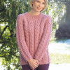 Luxury 45 Models Womens Chunky Cable Knit Sweater
