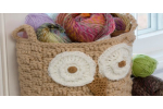 Brilliant 47 Photos Crochet Owl Basket