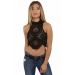 Amazing 42 Photos Black Crochet top