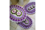Wonderful 40 Images Crochet Bathroom Set