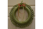 Lovely 43 Photos Crochet Christmas Wreath