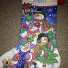 New 46 Photos Cross Stitch Christmas Stocking