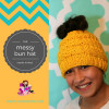 Luxury 50 Models Knitted Messy Bun Hat