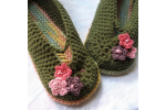 Charming 47 Ideas Crochet Adult Slippers