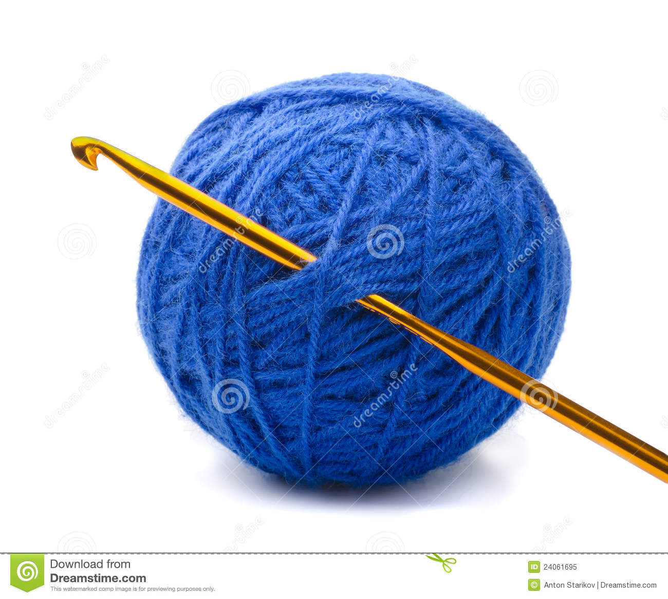 Yarn and crochet hook stock image Image of cord knitting