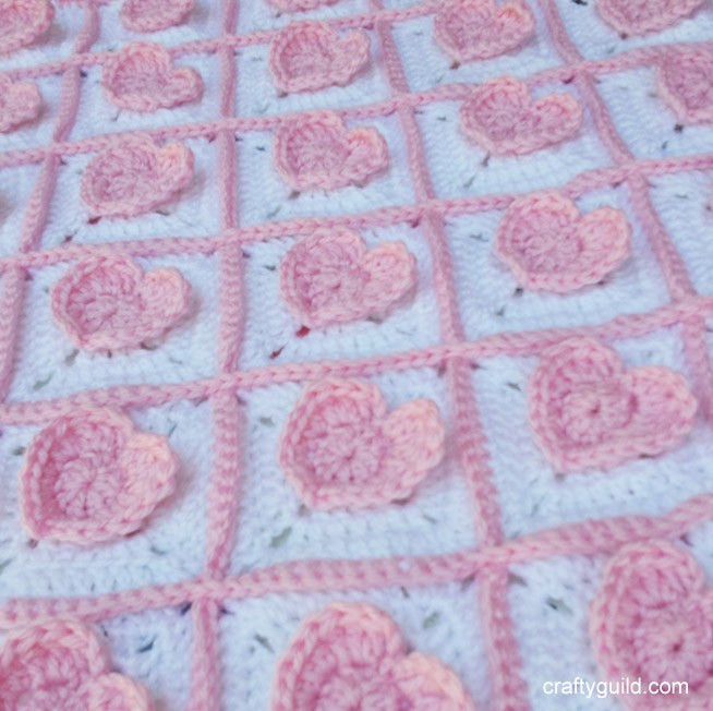 5.5 Mm Crochet Hook Awesome 3d Heart Granny Square Baby Blanket – Free Crochet Pattern Of Attractive 45 Pictures 5.5 Mm Crochet Hook