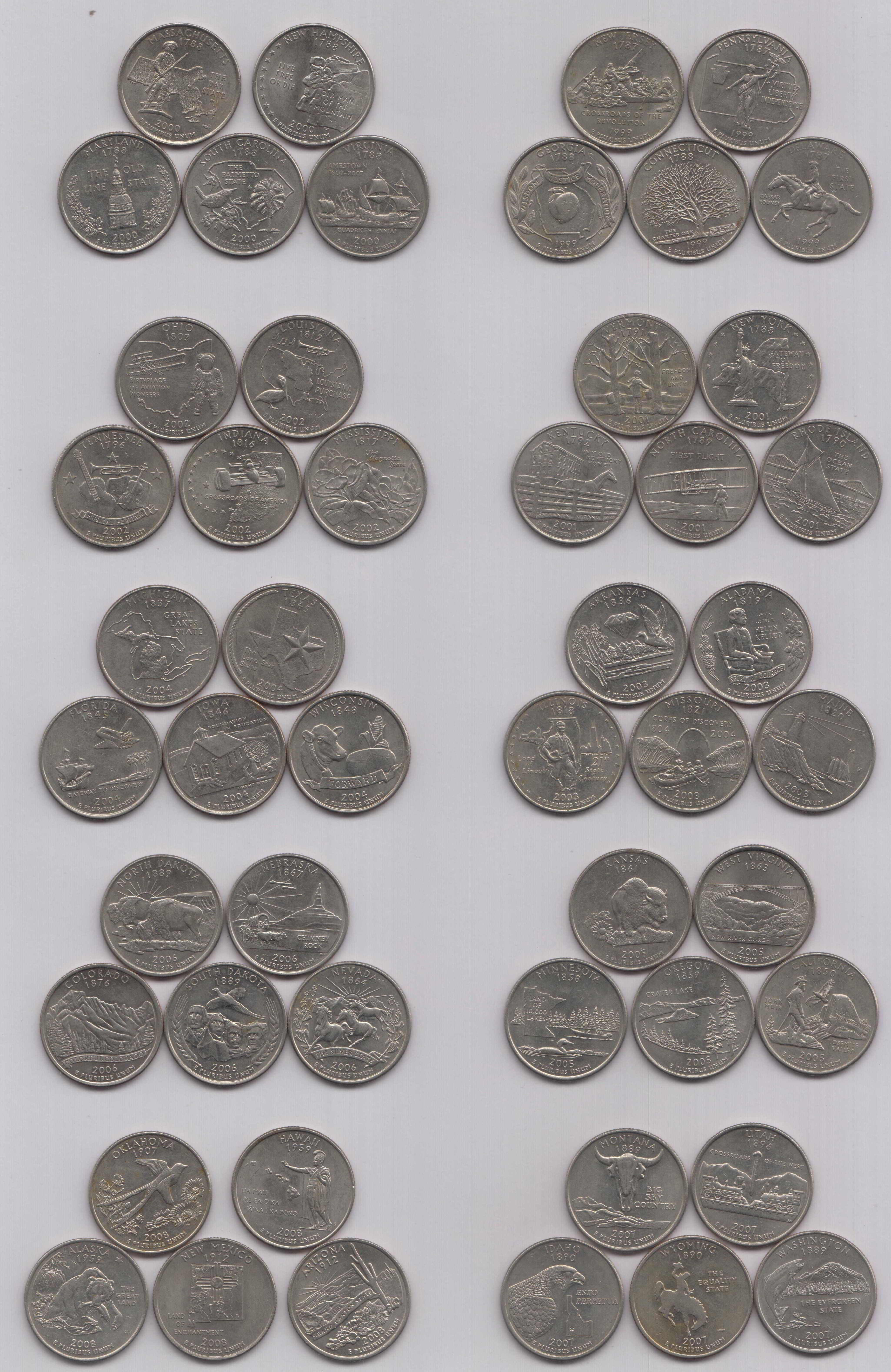 50 State Quarters Lovely 50 State Quarters Of United States Of America Of Great 48 Images 50 State Quarters