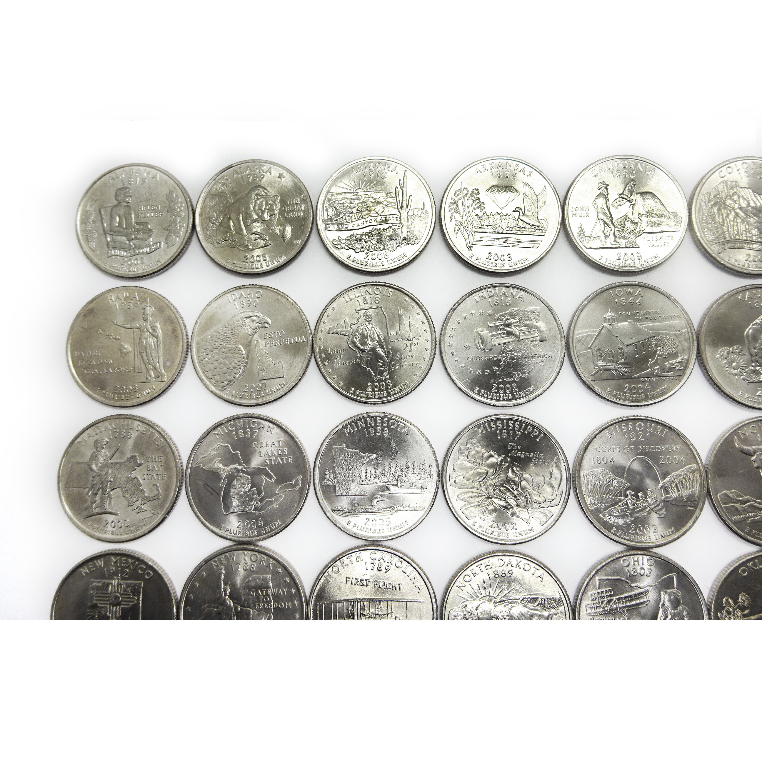 50 State Quarters Luxury Plete Us State Quarter Set 50 Coins 1999 2008 Auctions Of Great 48 Images 50 State Quarters