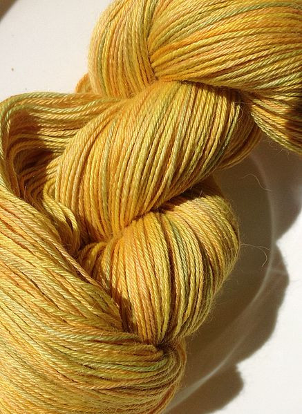 File Painted lace weight yarn alpaca silk and cashmere 6
