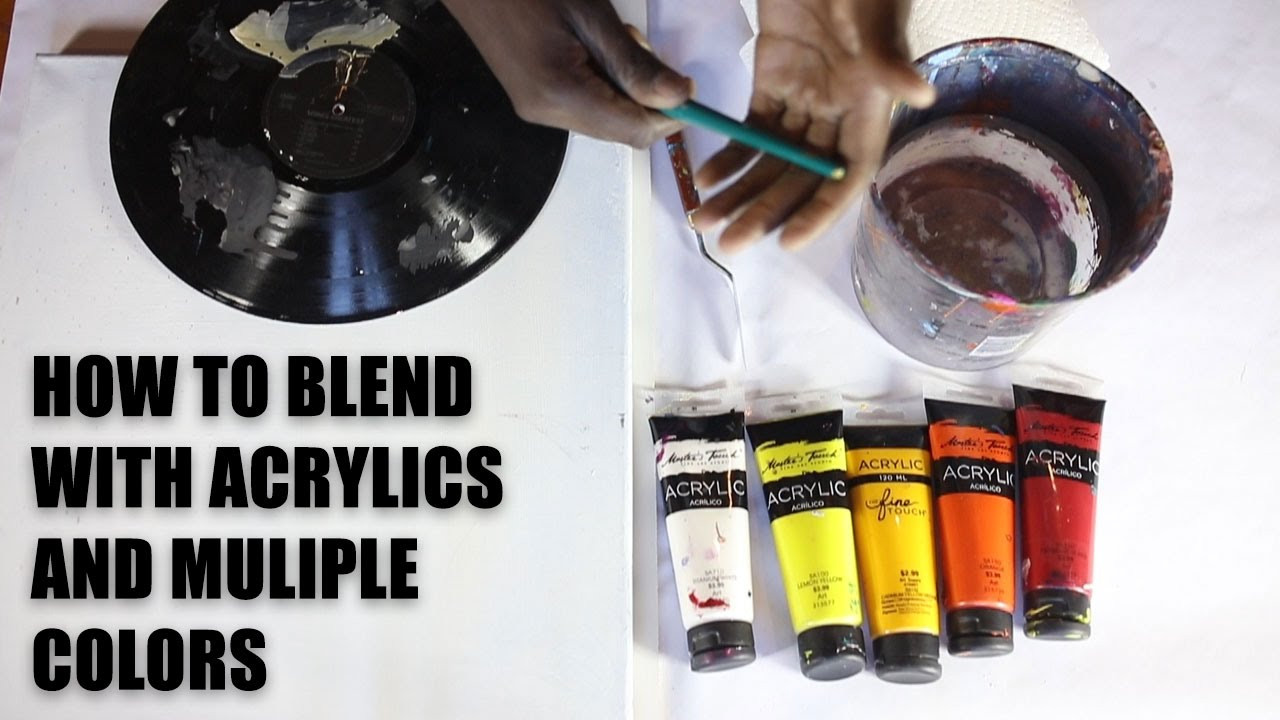 Acrylic Blend Best Of How to Blend Acrylic Paint with Multiple Colors Of Top 42 Photos Acrylic Blend