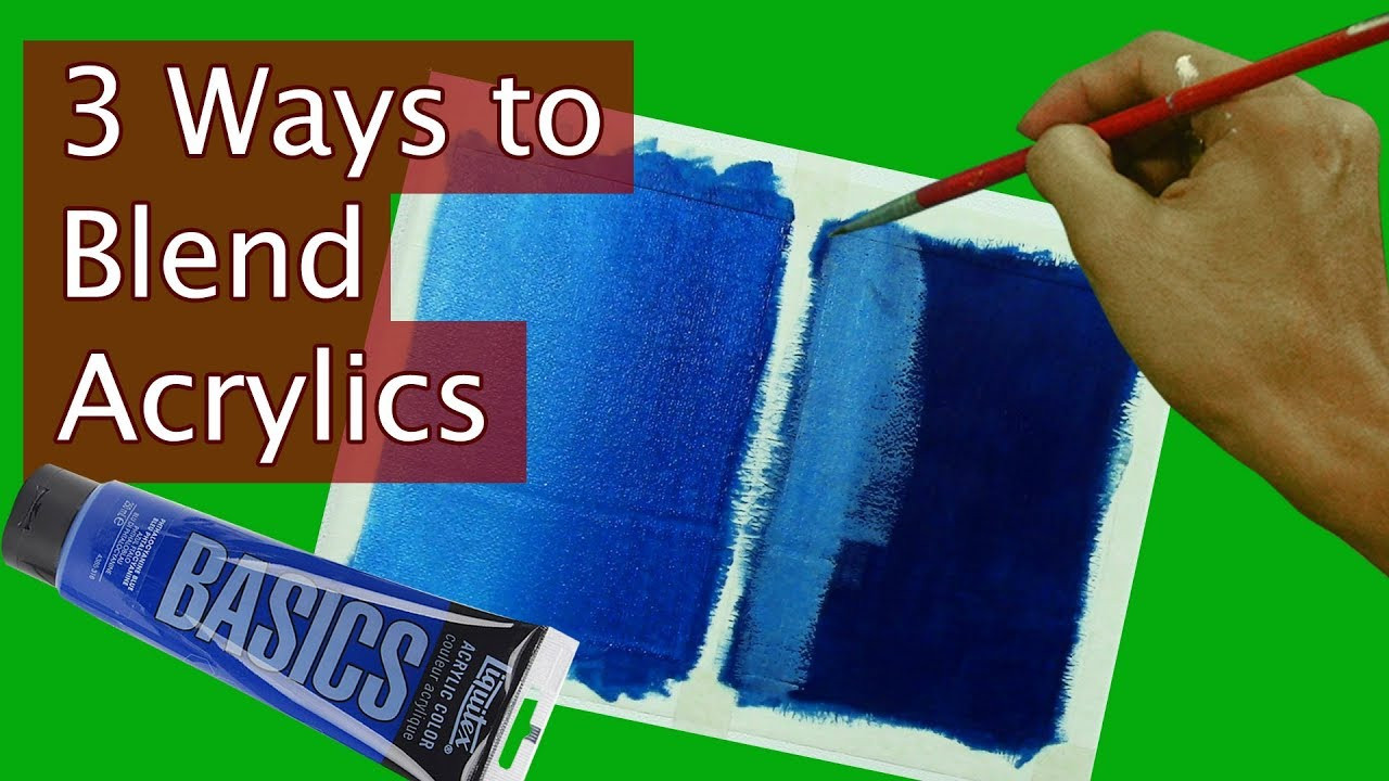 Acrylic Blend Lovely 3 Ways to Blend Acrylic Paints Tutorial for Beginners by Of Top 42 Photos Acrylic Blend