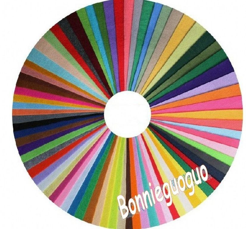 70 Colorful Felt Pieces Sewing Non woven Fabric Acrylic