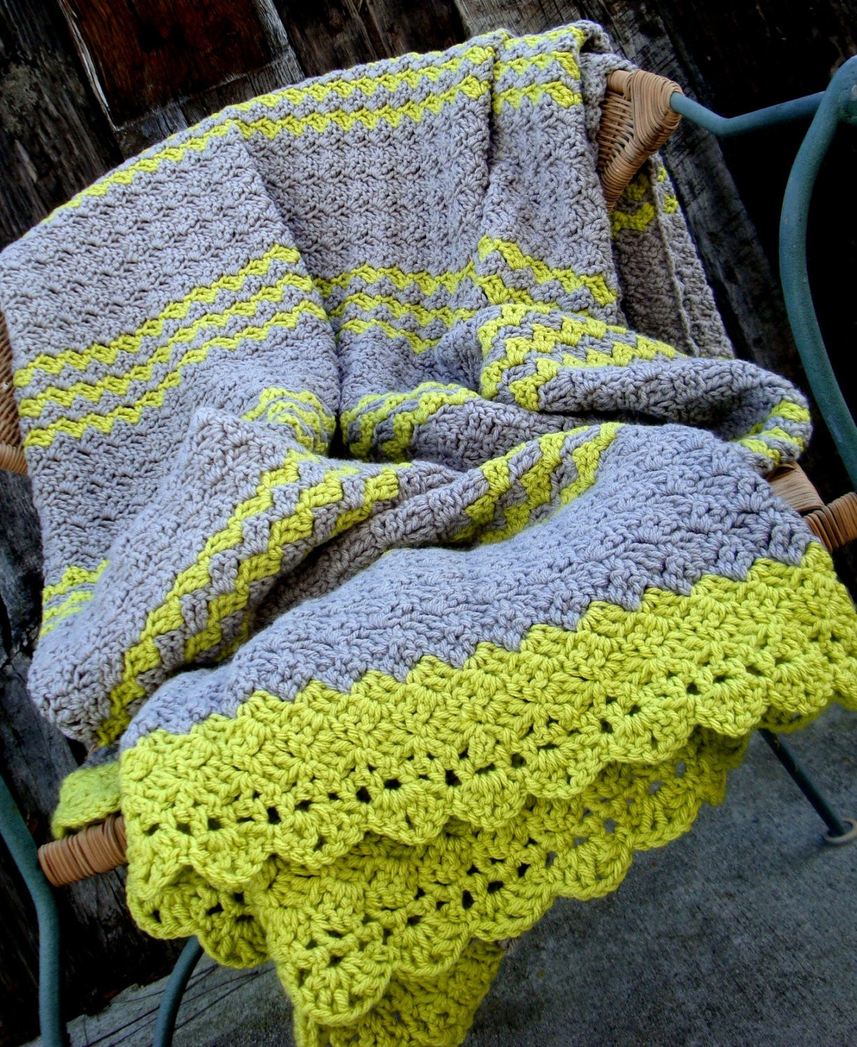 Afghan Blanket Awesome Afghan Blanket Crochet Gray Grey with Lime Green Lap Blanket Of Amazing 48 Photos Afghan Blanket