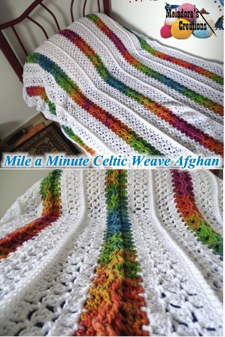 Afghan Blanket Crochet Pattern Elegant Meladora S Creations – Mile A Minute Celtic Weave Afghan Of Incredible 43 Pictures Afghan Blanket Crochet Pattern