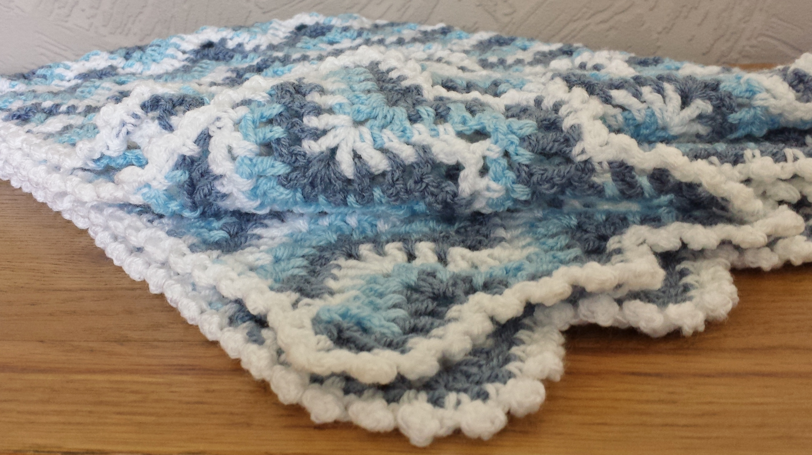 "Baby Crochet ""Sea Waves"" Ripple Blanket Afghan Pattern"
