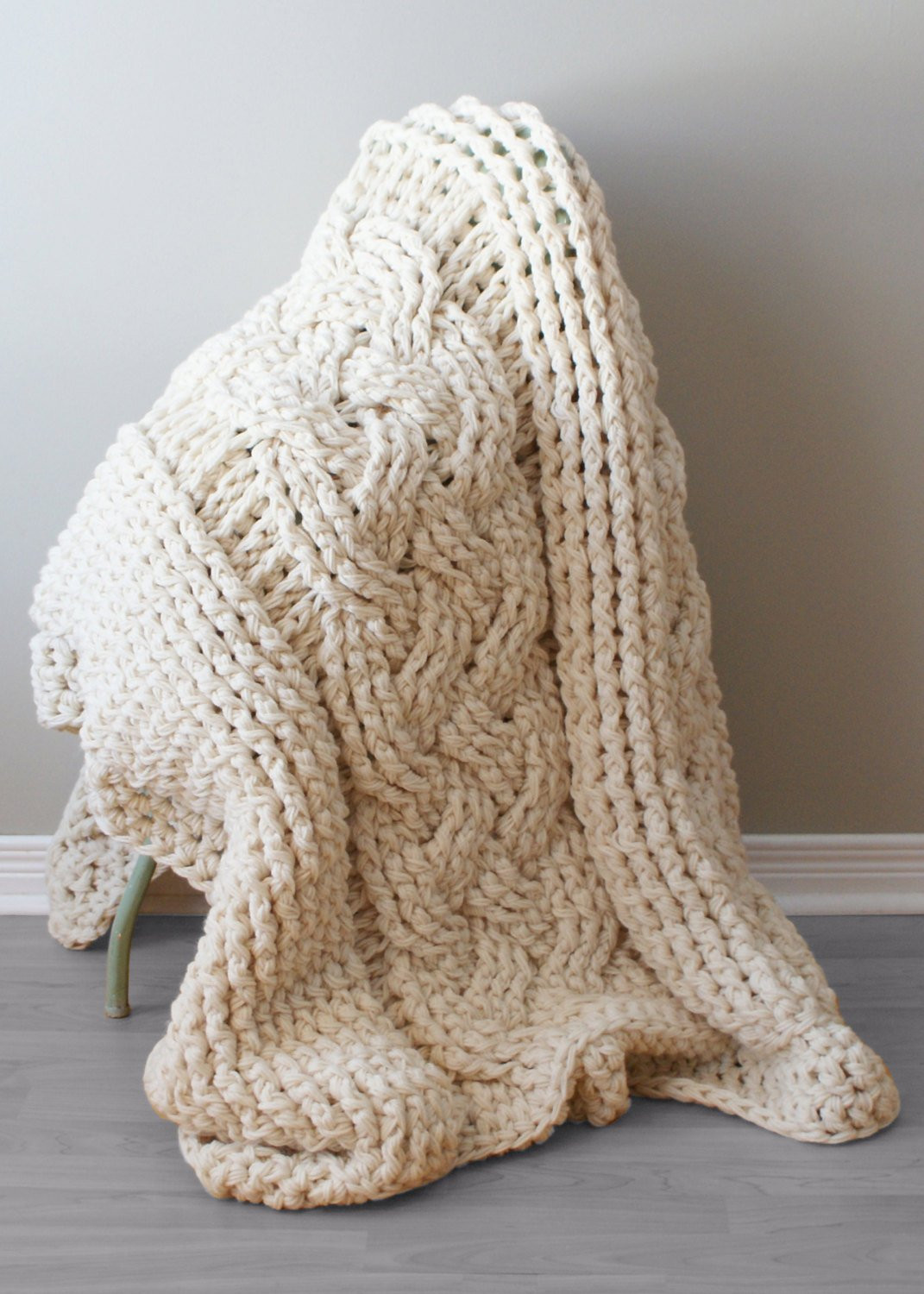 diy crochet pattern throw blanket rug