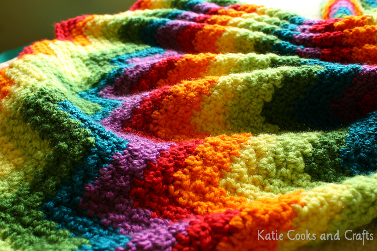Afghan Blanket Pattern Elegant Katie Cooks and Crafts Rumpled Ripple Rainbow Crochet Of Attractive 40 Pics Afghan Blanket Pattern