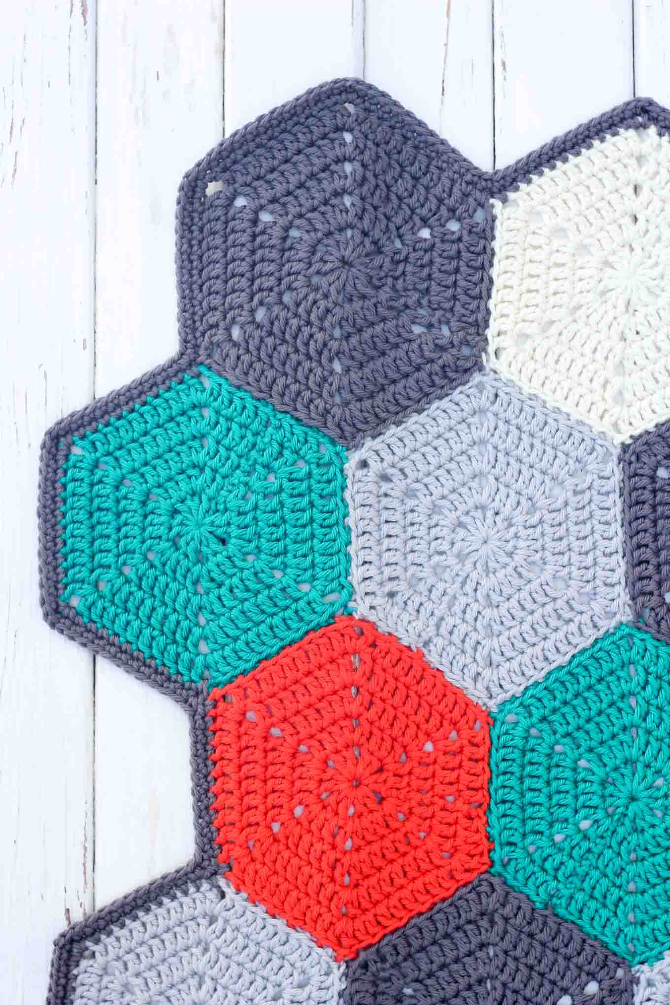 "Afghan Blanket Pattern Fresh ""happy Hexagons"" Free Crochet Afghan Pattern Make & Do Crew Of Attractive 40 Pics Afghan Blanket Pattern"