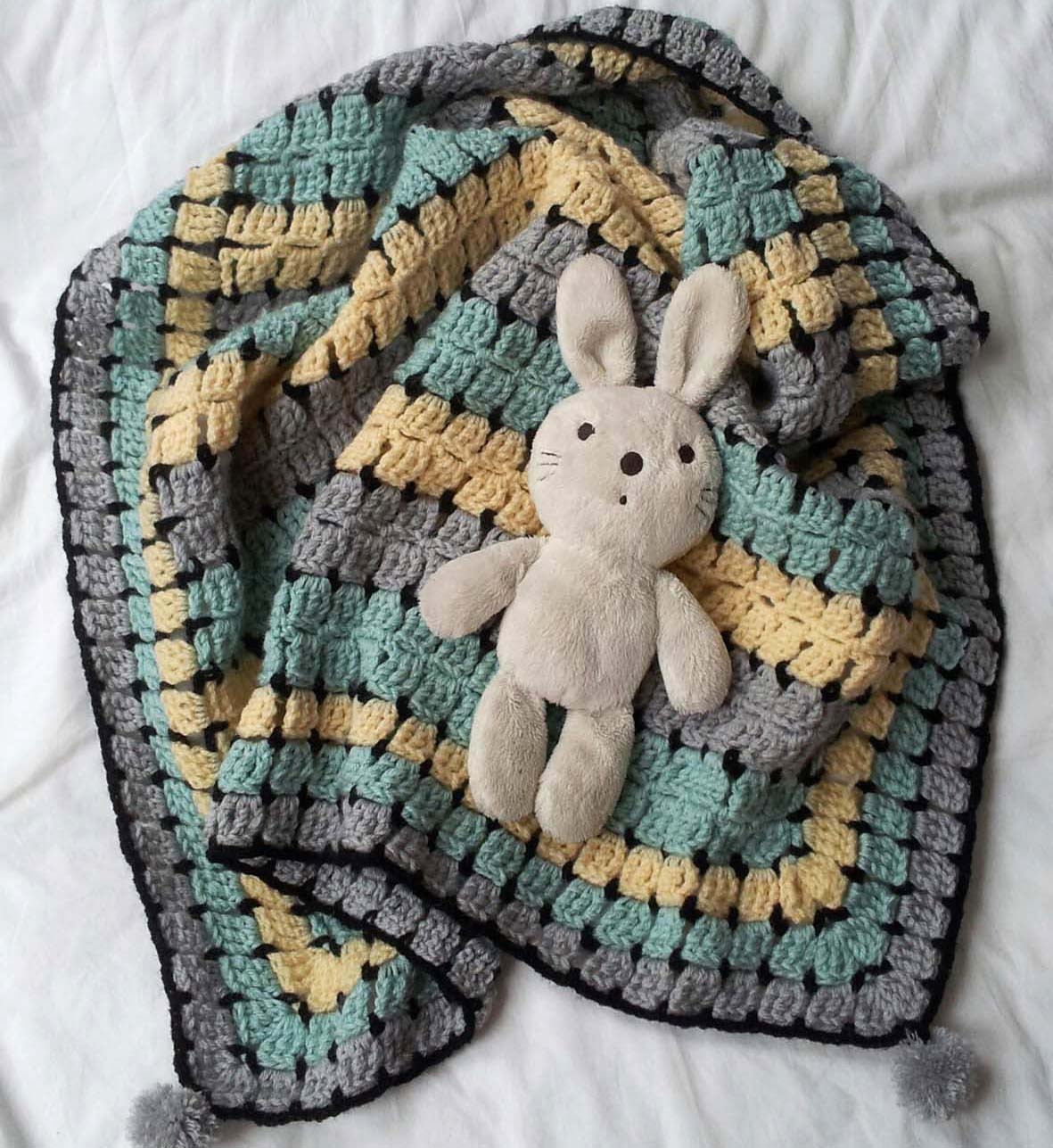thredHED Retro Baby Buggy Blanket