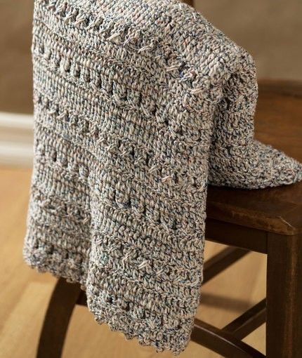 [Free Pattern] This Softly Textured Crochet Afghan Is A