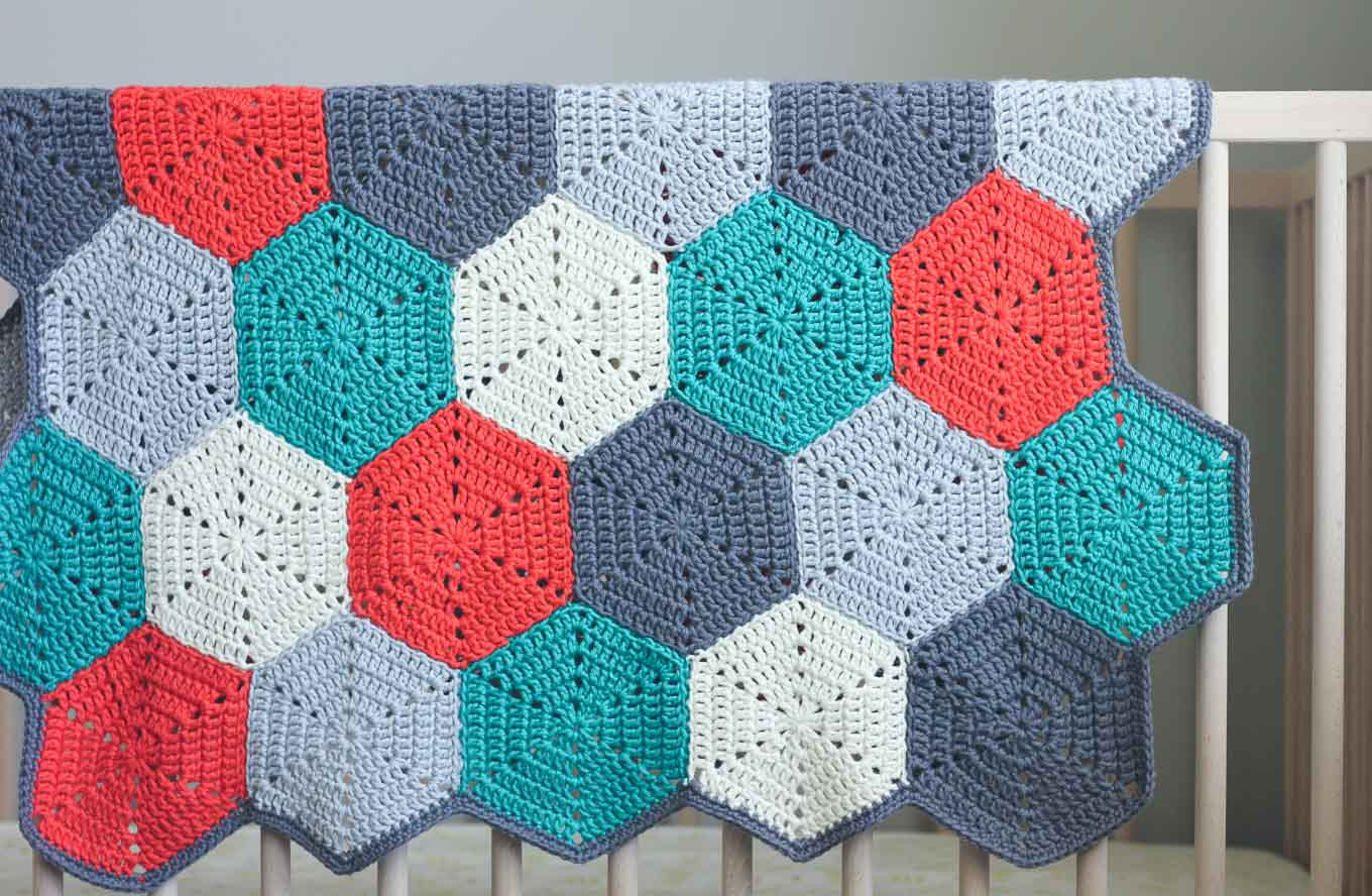 tutorial free pattern crochet half hexagon