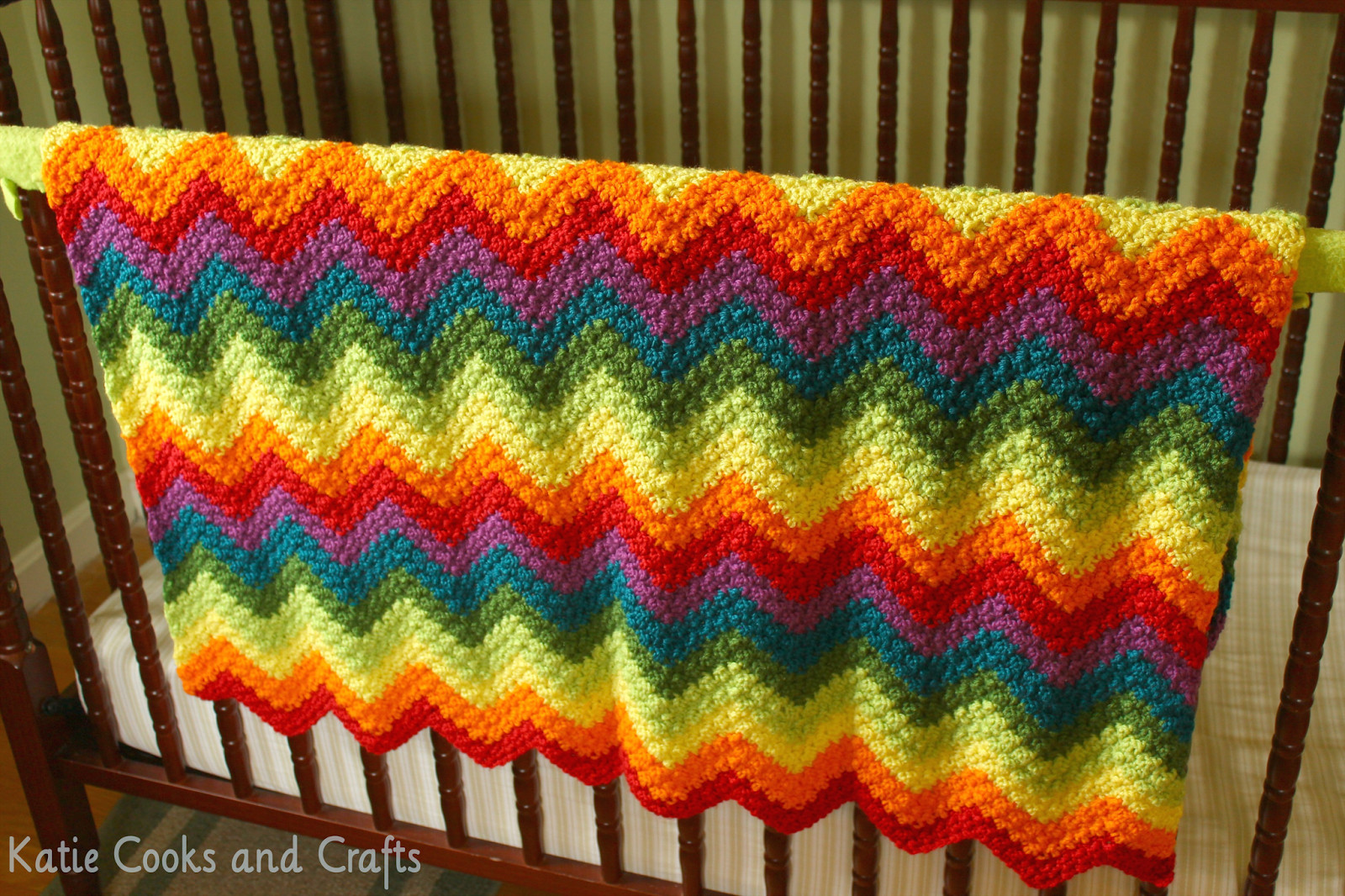 Afghan Patterns Beautiful Katie Cooks and Crafts Rumpled Ripple Rainbow Crochet Of Lovely 45 Ideas Afghan Patterns