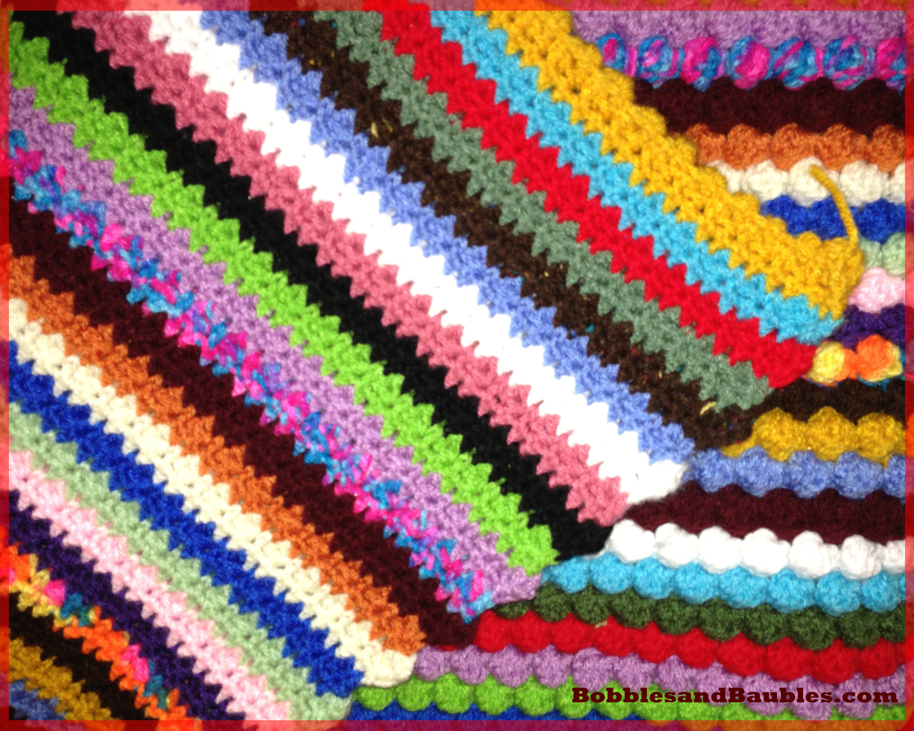 Afghan Patterns Beautiful My Never Ending Scrap Yarn Bobble Blanket – Bobbles & Baubles Of Lovely 45 Ideas Afghan Patterns