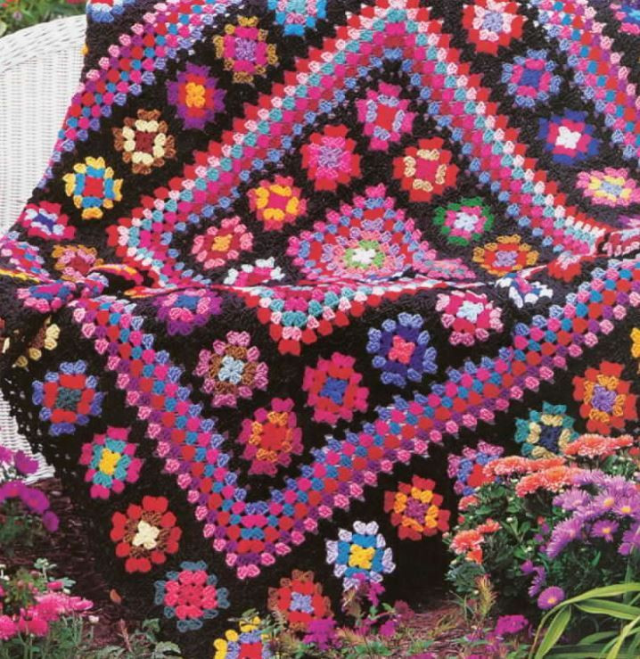 Afghan Square Crochet Patterns Awesome Crochet Pattern Afghan Throw Blanket Vintage Granny Square Of Amazing 50 Pics Afghan Square Crochet Patterns