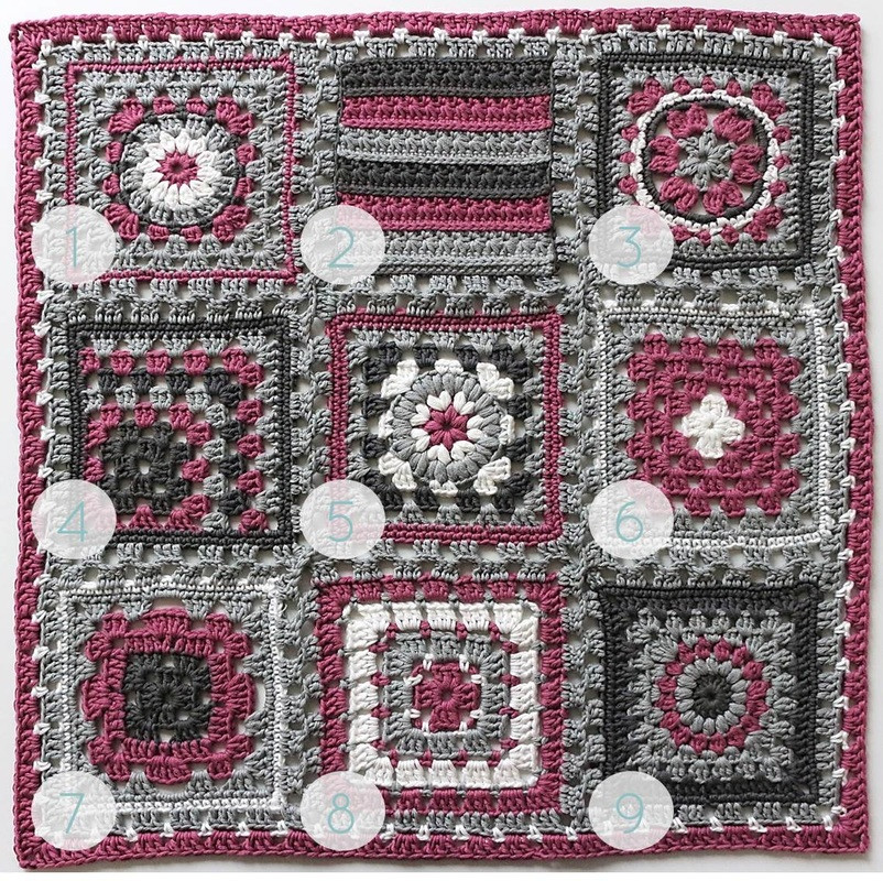 """Afghan Square Crochet Patterns Fresh Crochet Meets Patchwork"""" Afghan Fuchsia Granny Square Of Amazing 50 Pics Afghan Square Crochet Patterns"""