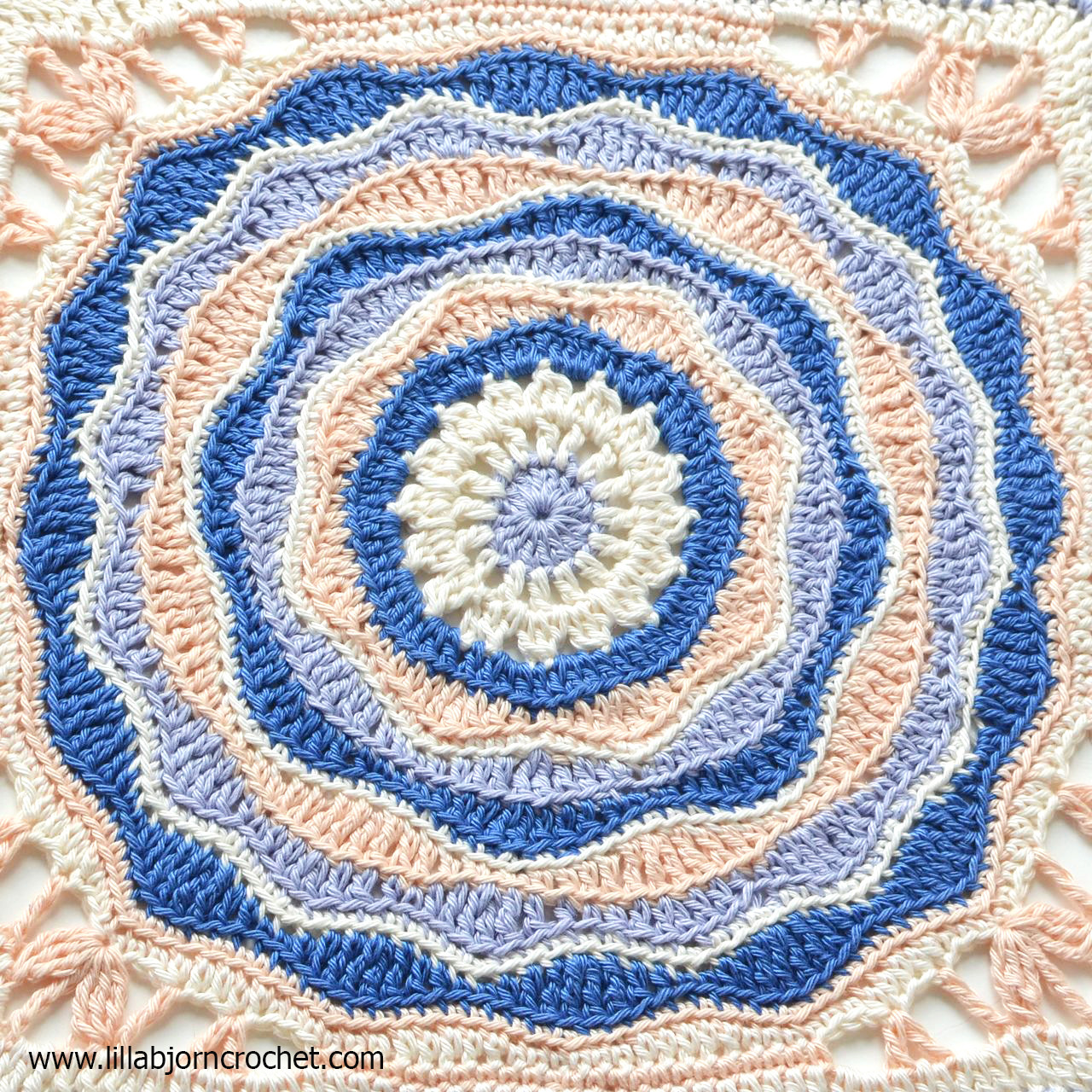 """Afghan Square Crochet Patterns Inspirational Oceanic Rose My First 12"""" Afghan Square Design Of Amazing 50 Pics Afghan Square Crochet Patterns"""