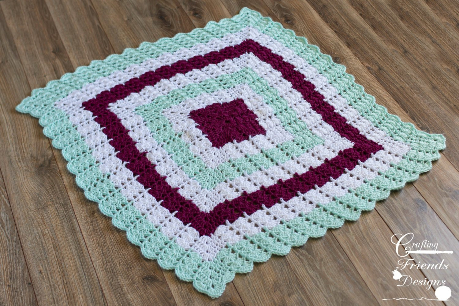 Afghan Square Crochet Patterns Luxury Crochet Pattern Shell Brook Square Afghan for Infants Of Amazing 50 Pics Afghan Square Crochet Patterns