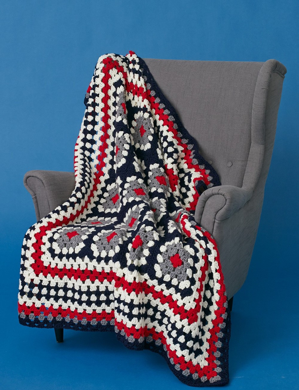 Afghan Square Crochet Patterns New Patriotic Crochet Granny Squares Throw Of Amazing 50 Pics Afghan Square Crochet Patterns