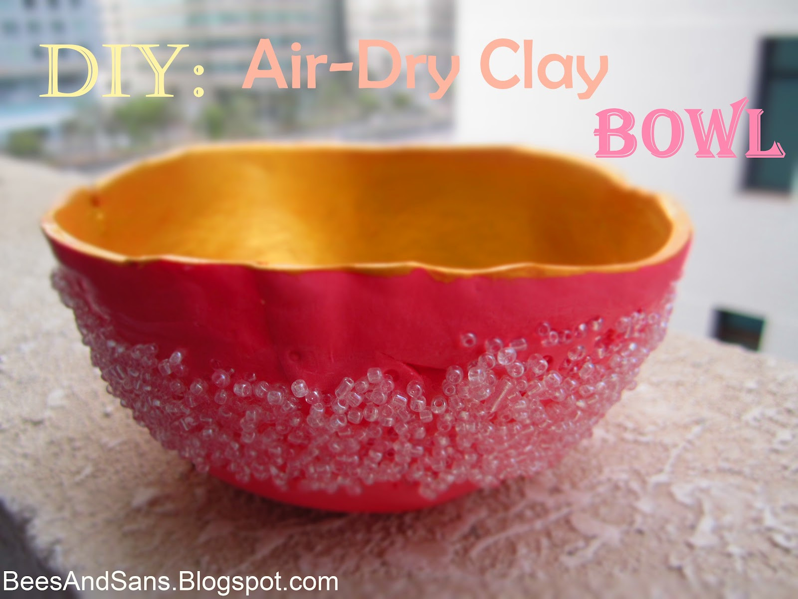 Air Dry Clay Inspirational Bee S and San S Diy Air Dry Clay Bowl with Beads Of Top 47 Images Air Dry Clay