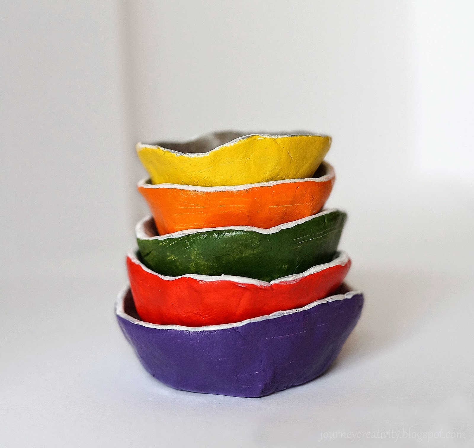 Air dry clay jewelry dishes Journey into Creativity