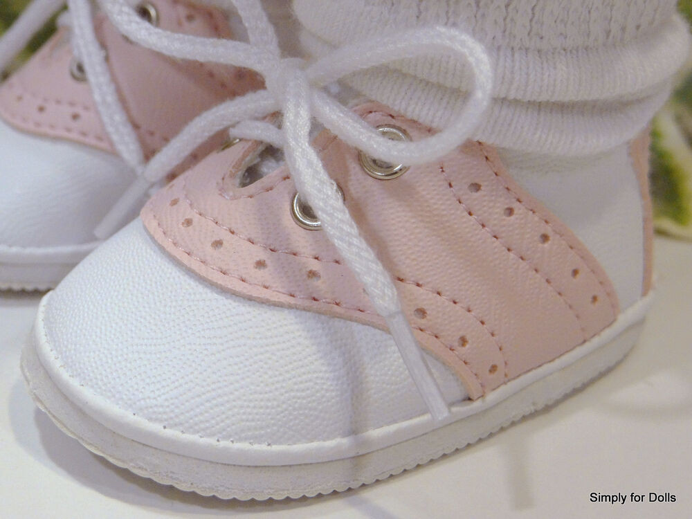 """American Girl Doll Shoes Awesome Pink & White Saddle Oxford Doll Shoes Fits 18"""" American Of Attractive 48 Models American Girl Doll Shoes"""