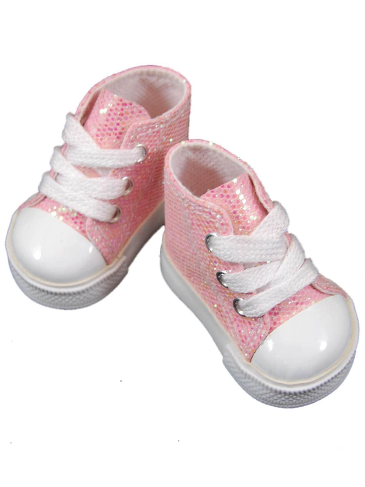 note ships 10 30 14 pink sparkle high top shoes fit 18 american girl doll