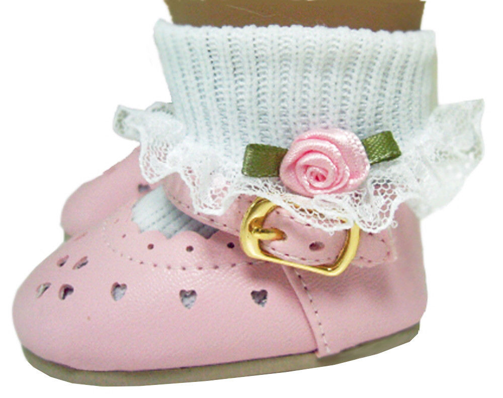 """American Girl Doll Shoes Best Of Pink Dress Shoes & Rosebud socks Made for 18"""" American Of Attractive 48 Models American Girl Doll Shoes"""