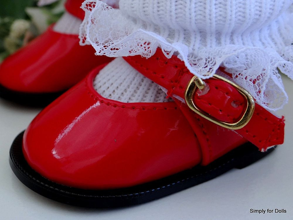 """American Girl Doll Shoes Elegant Red Patent Leather Mary Jane Doll Shoes Fits 18"""" American Of Attractive 48 Models American Girl Doll Shoes"""
