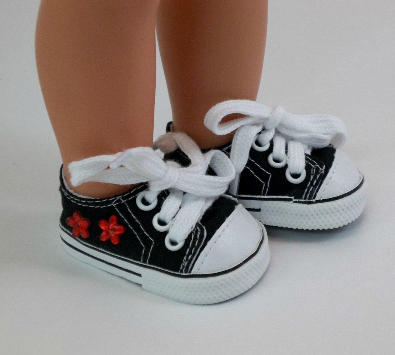 American Girl Doll Shoes Fresh 18 Inch Doll Shoes American Girl Doll Black Sneakers with Red Of Attractive 48 Models American Girl Doll Shoes