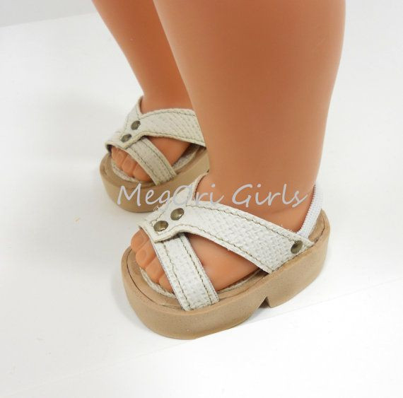 """American Girl Doll Shoes Inspirational 18"""" Doll Shoes Sandals Fit American Girl Dolls Ivory Cream Of Attractive 48 Models American Girl Doll Shoes"""