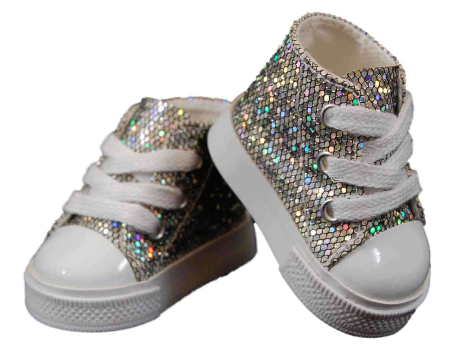 """American Girl Doll Shoes Luxury Silver High top Sneakers Shoes for 18"""" American Girl¨ Doll Of Attractive 48 Models American Girl Doll Shoes"""