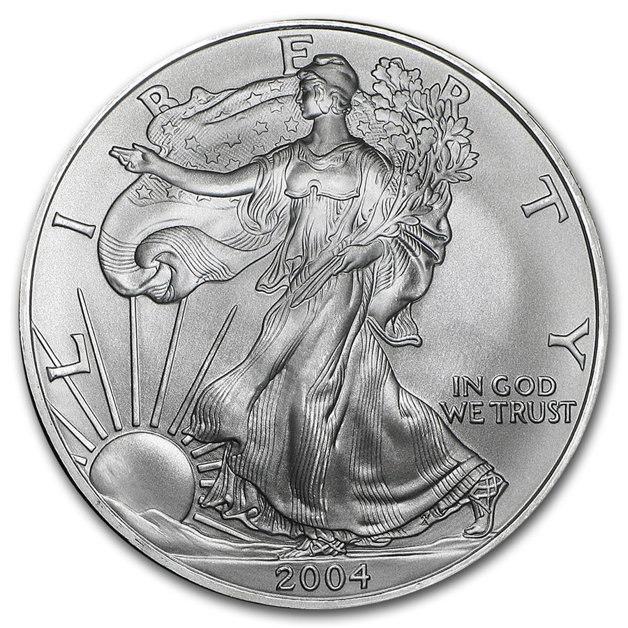 American Silver Eagle Awesome 2004 1 Oz Silver American Eagle Bu Of Perfect 48 Models American Silver Eagle