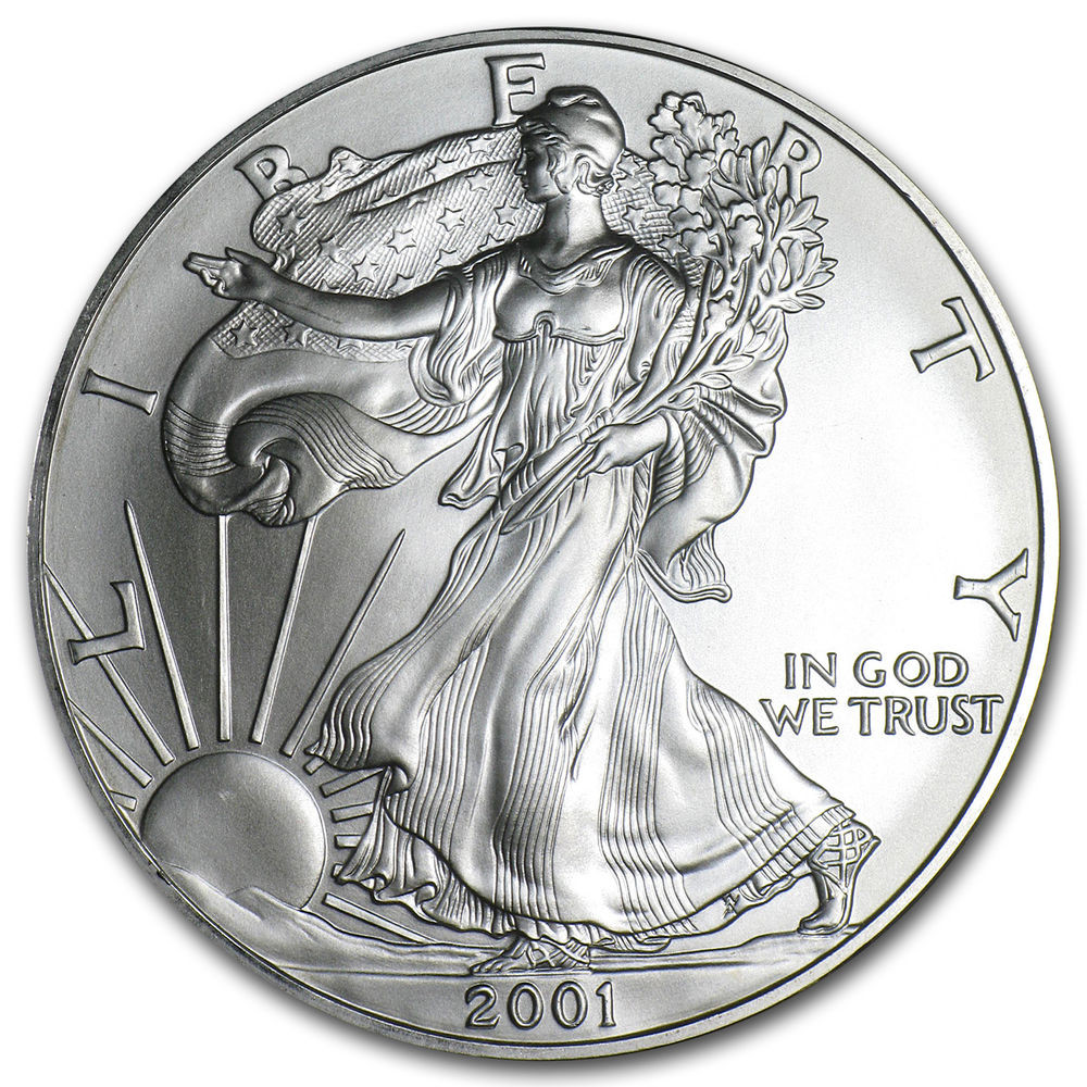 American Silver Eagle Beautiful 2001 1 Oz Silver American Eagle Coin Of Perfect 48 Models American Silver Eagle