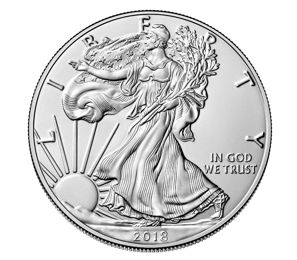 American Silver Eagle Beautiful 2018 1 Oz American Silver Eagle $1 Gem Bu Coin Sku Of Perfect 48 Models American Silver Eagle