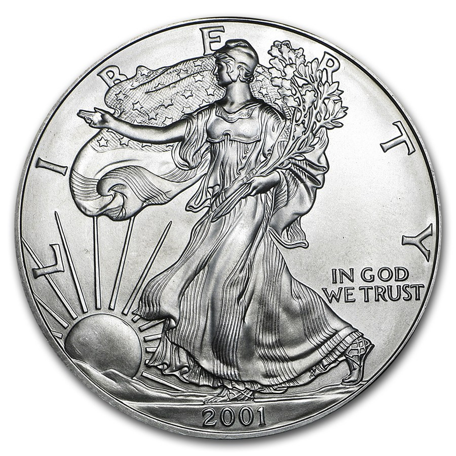 American Silver Eagle Luxury 2001 1 Oz Silver American Eagle Bu Of Perfect 48 Models American Silver Eagle