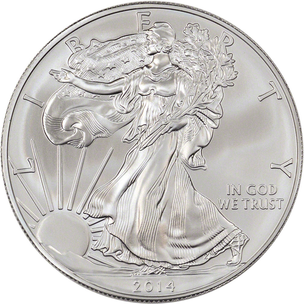 American Silver Eagle New 2014 American Silver Eagle 1 Oz $1 Sealed 500 Coin Of Perfect 48 Models American Silver Eagle
