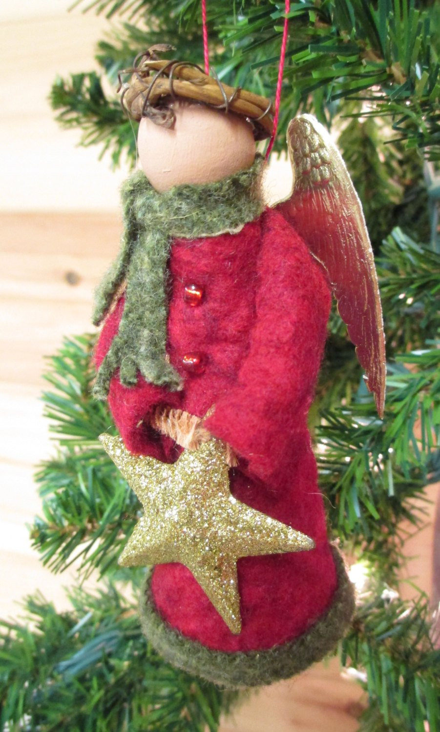 Angel Christmas ornaments Awesome Angel Christmas ornament Clothespin Felt Winter Angel Of Gorgeous 40 Photos Angel Christmas ornaments