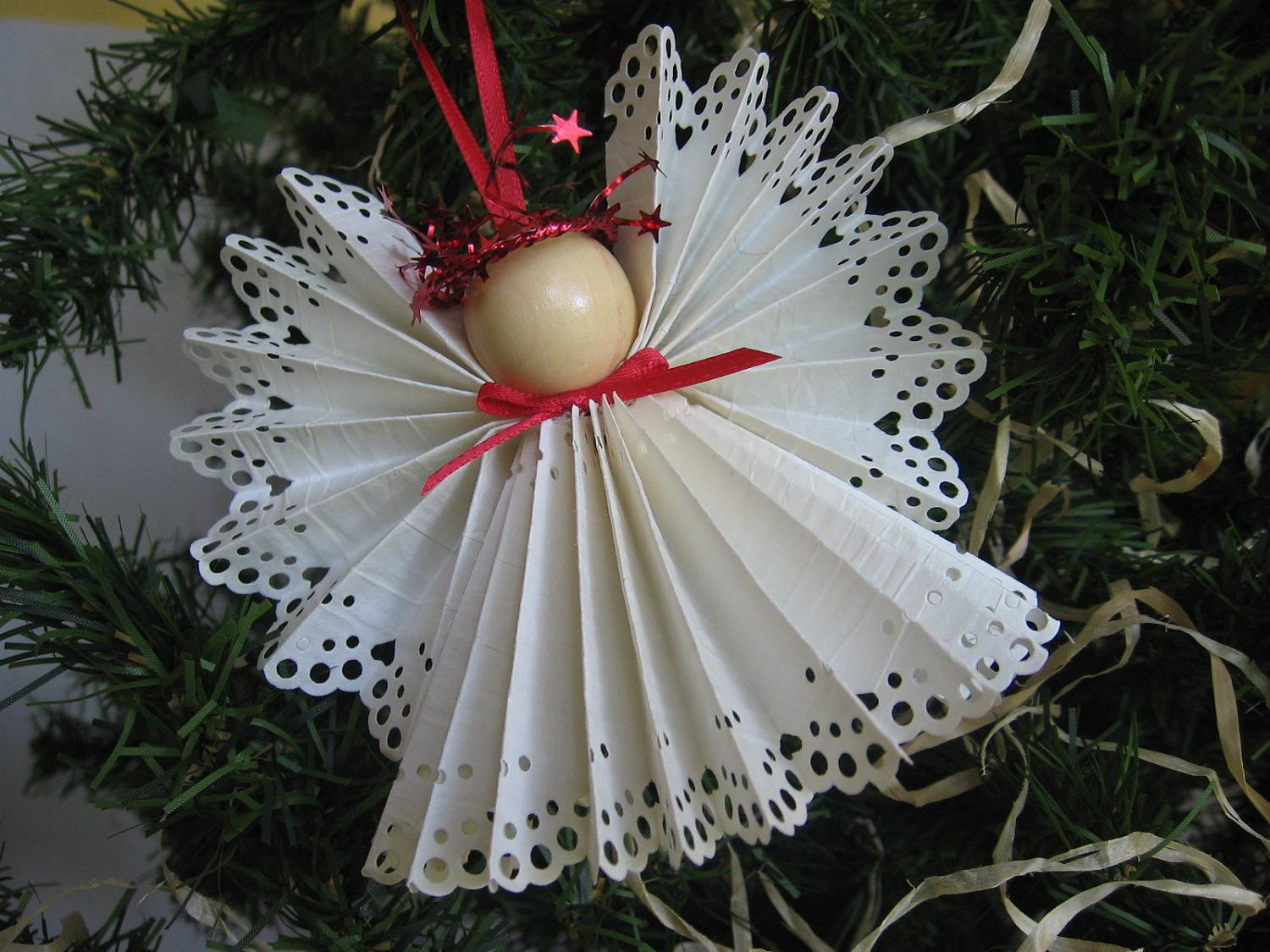Angel Christmas ornaments Awesome Angel Christmas ornament White Paper Lace Ribbon by Of Gorgeous 40 Photos Angel Christmas ornaments