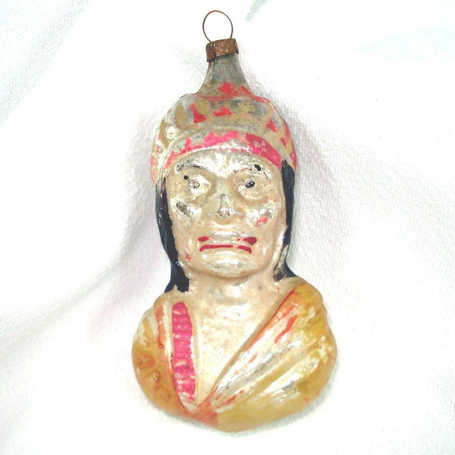 Antique Christmas ornaments Awesome Antique Germany Indian Bust Glass Christmas ornament Of Amazing 41 Pics Antique Christmas ornaments
